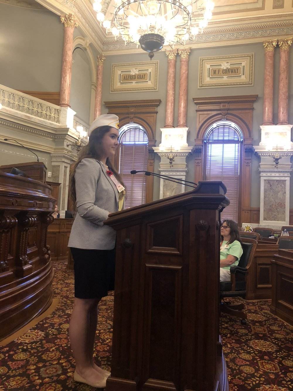 Governor Katie reporting on legislation.