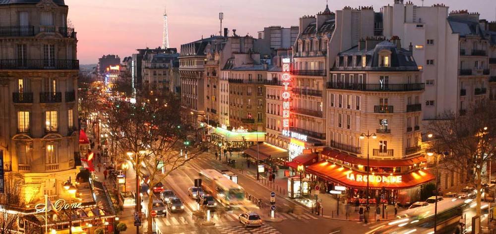 Boulevard Montparnasse, present day