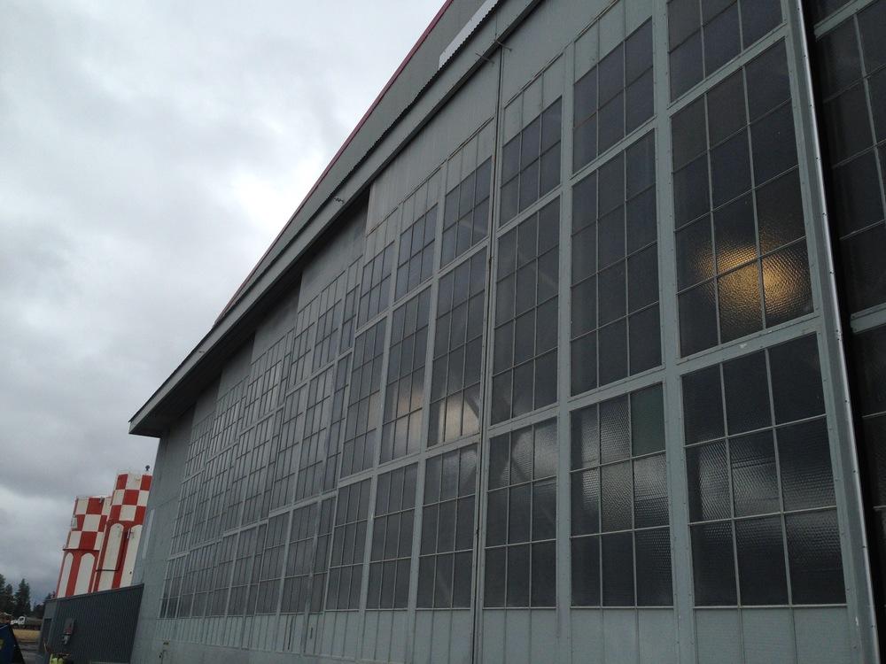 hangar doors refurbished