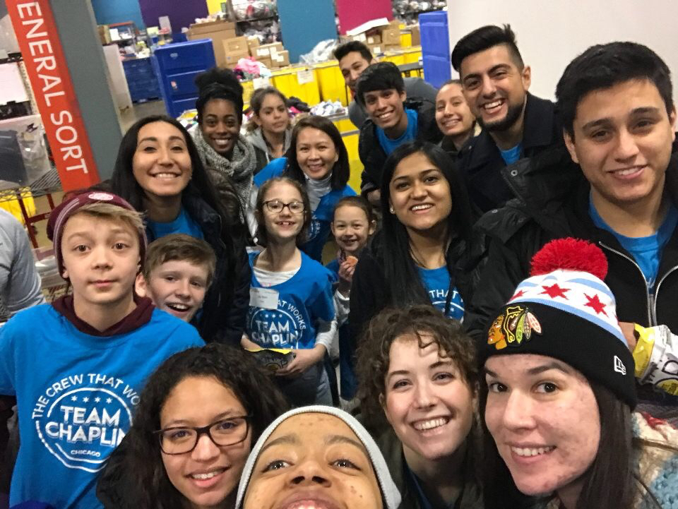 Fun time together at Cradles to Crayons - Until next year . . .