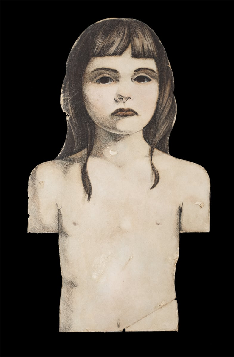 "Child of Remembrance . 1999. 11"" x 19"". Lithography, Acrylic, Glue, Bristol paper."