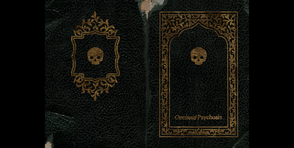 Oneiroid Psychosis,  Forever is Forgotten.  Back and front booklet covers.  2004. Pen and ink, Photographic illustration. Released by Cop International.