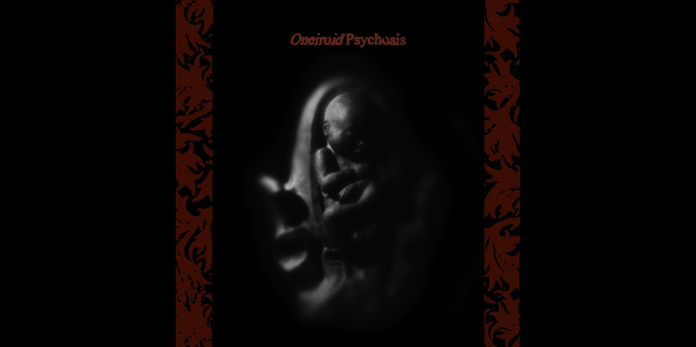 Oneiroid Psychosis,  Stillbirth . CD Booklet Cover . 1995. Sculpted clay fetus and womb, Photography, Pen and ink. Released by Decibel Records.