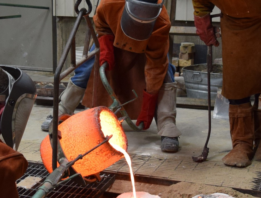 Foundry pour, April 2016.