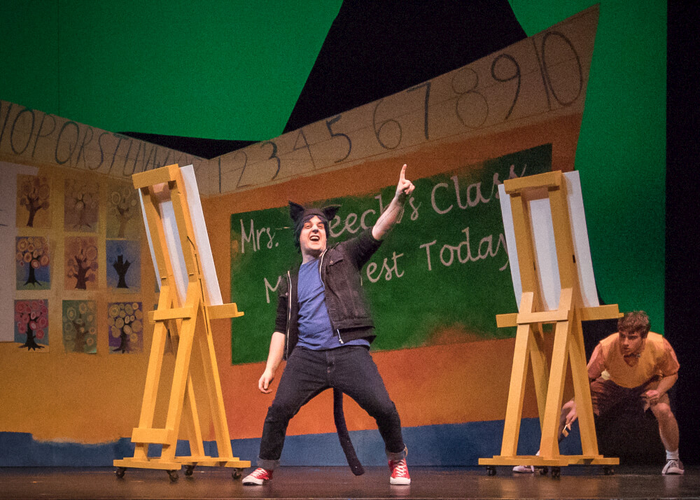 Pete the Cat: The Musical.  Photo by Owen Carey.