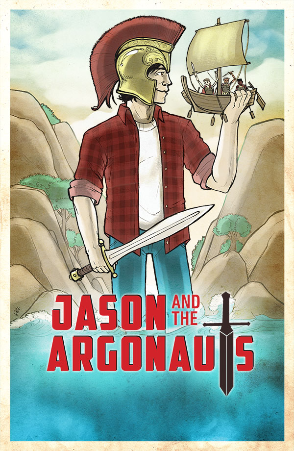 Jason and the Argonauts. Illustration by Brian W. Parker.