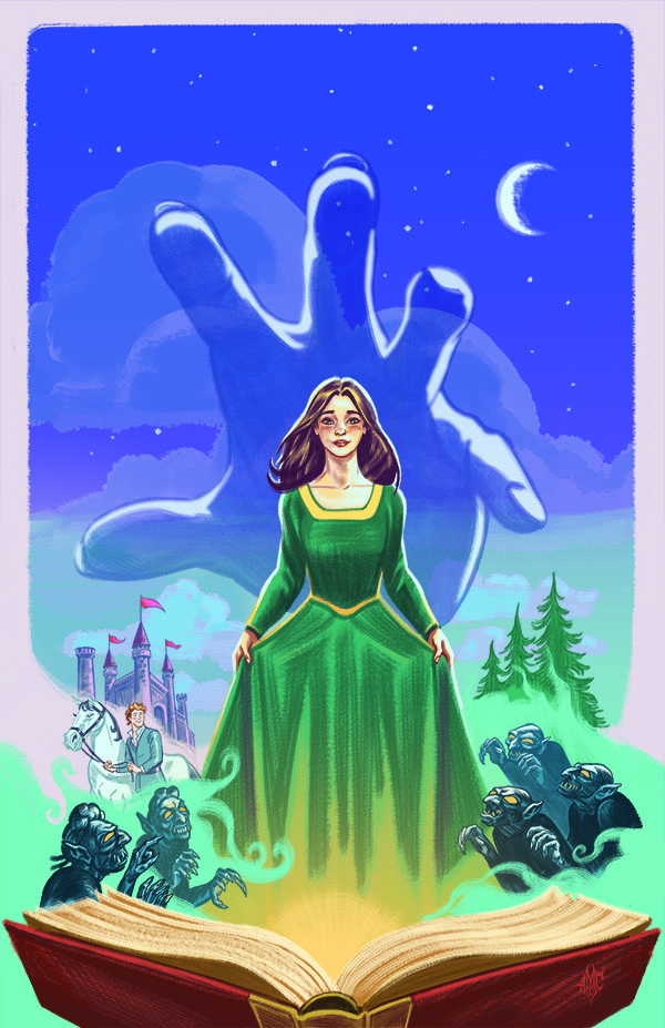 Ella Enchanted. Illustration by Aaron McConnell.