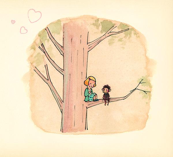 Me…Jane (2019) . Illustration by Patrick McDonnell.