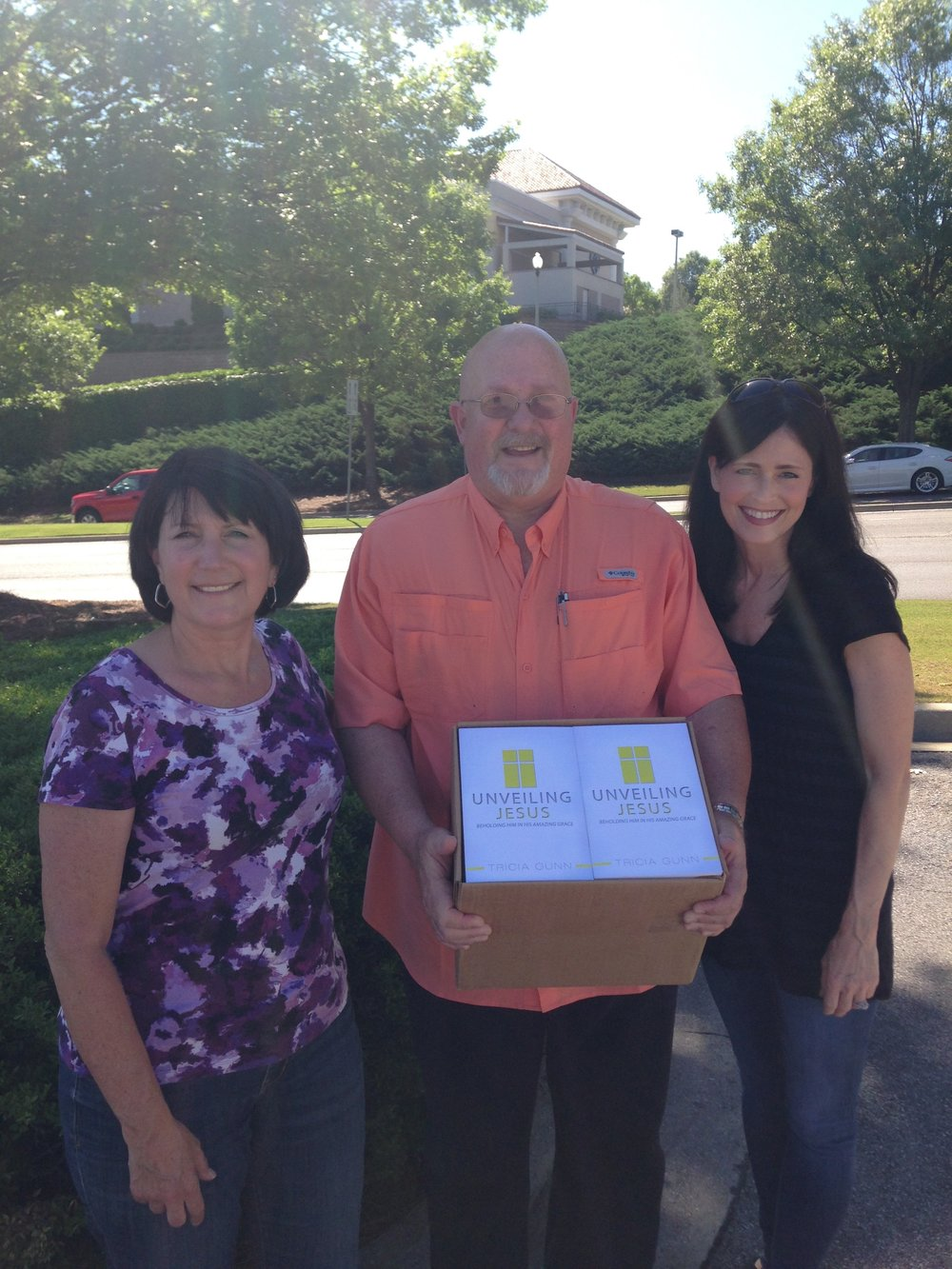 TR and Michelle taking more books to the inmates who are being healed by God's grace!