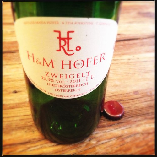 Hofer Zweigelt, Austrian red wine