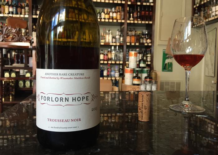 Forlorn Hope Trousseau Noir 2015 at Keife & Co. New Orleans