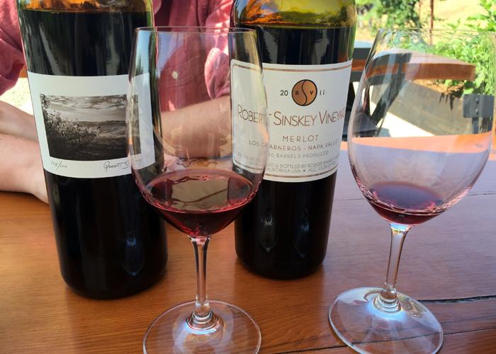 Robert Sinskey Vineyards Merlot and POV Los Carneros Napa Valley
