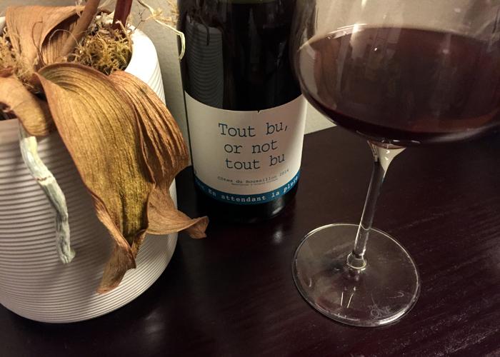 Domaine du Possible tout bu or not tout bu carignan Roussillon