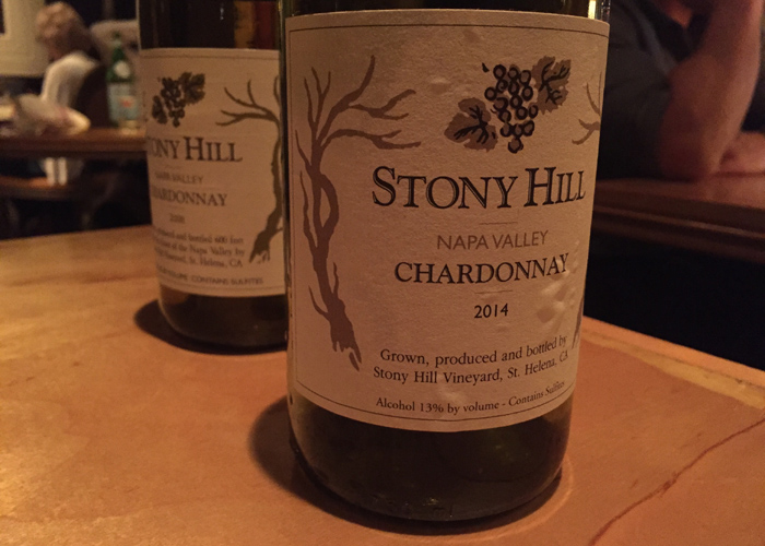 Stony Hill Chardonnay 2008 tasting notes
