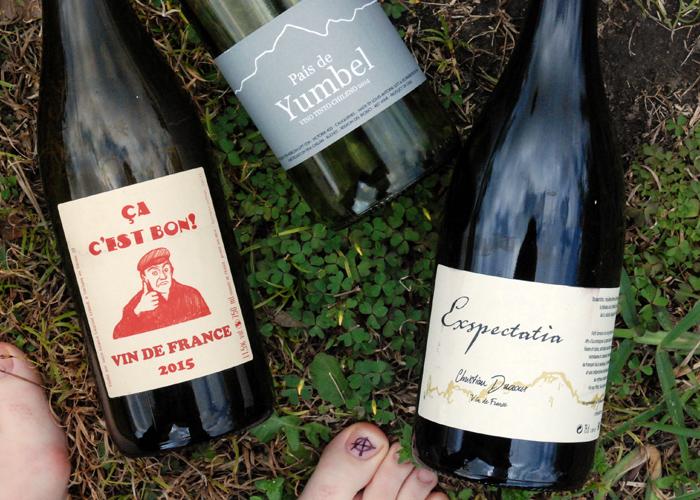 Three wild, nutty full bush natural reds on Pig&Vine. Christian Ducroux Exspectatia, Pais Yumbel, Ca C'est Bon vin de France