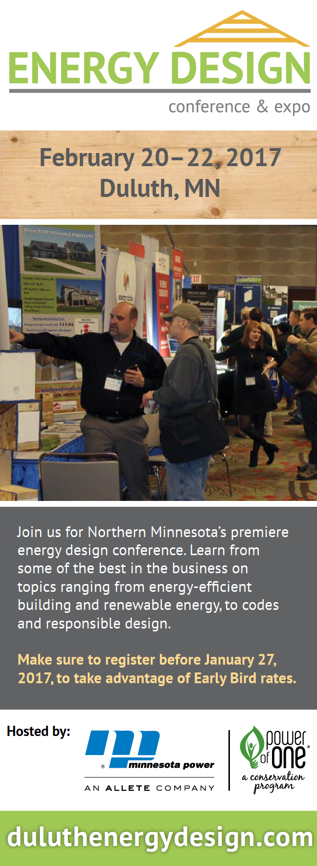 - We placed a number of ads for this conference. Above is a column-style add that ran in Home Energy magazine, a publication dedicated to green building.