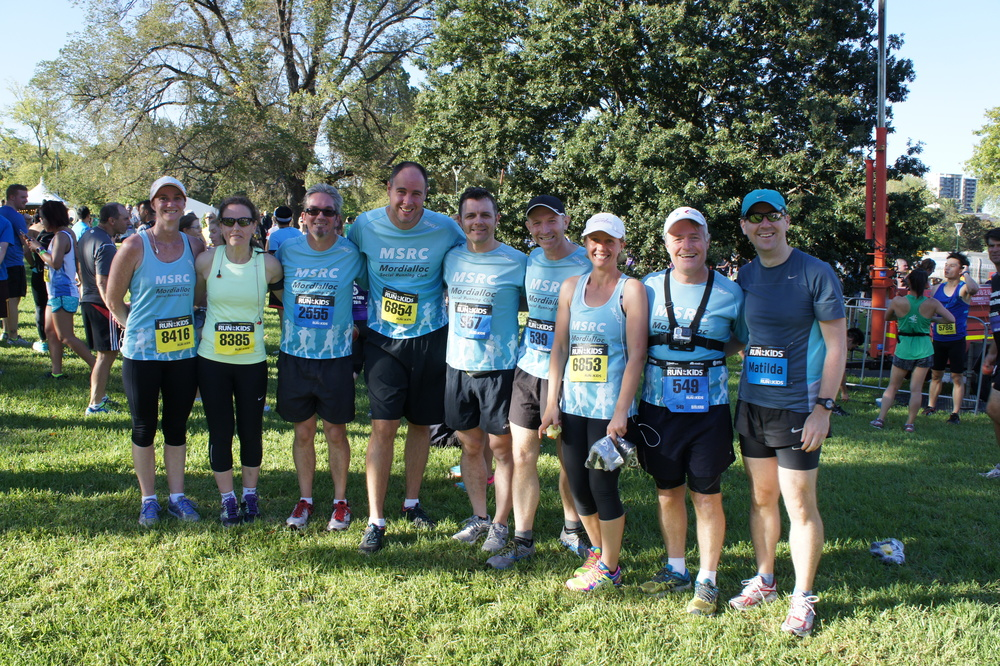MSRC team participants at Run for the Kids 2016