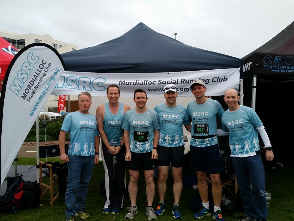 Some of the MSRC team at Sandy Point Half Marathon 2016