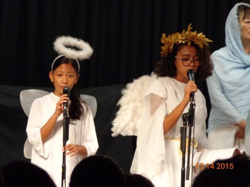 Youth Singing for Christmas Cantata at Mililani Baptist Church