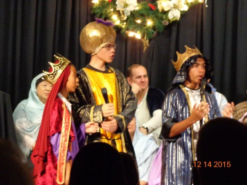 Youth Playing Three Kings for Christmas Cantata 2015 at Mililani Baptist Church
