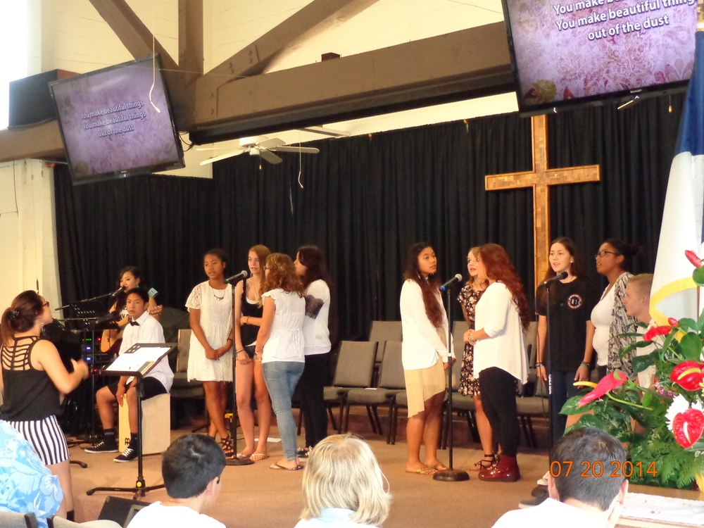Youth Leading Sunday Worship at Mililani Baptist Church