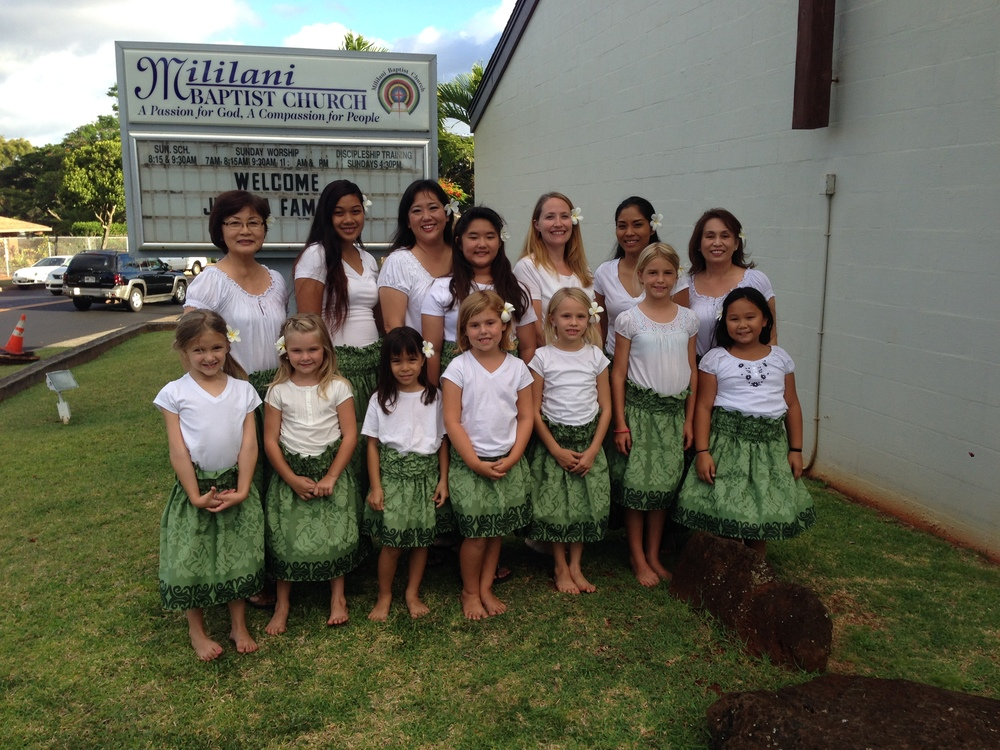Hula Dancing Team of Mililani Baptist Church