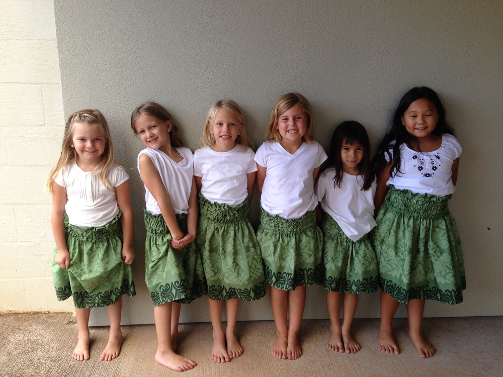 Children Preparing for Hula Dancing at Mililani Baptist Church