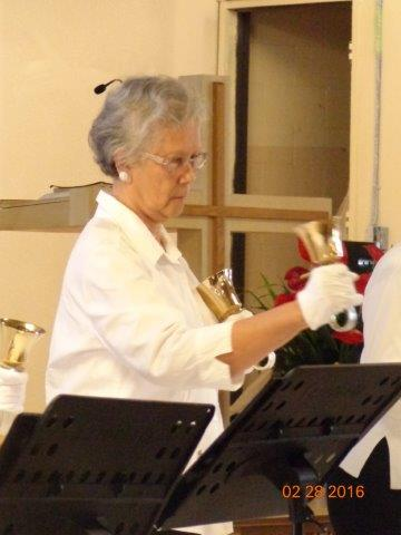 Nelly Playing Handbell at Mililani Baptist Church