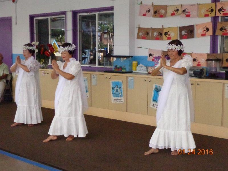 Japanese Ladies Hula Dancing at Mililani Baptist Church