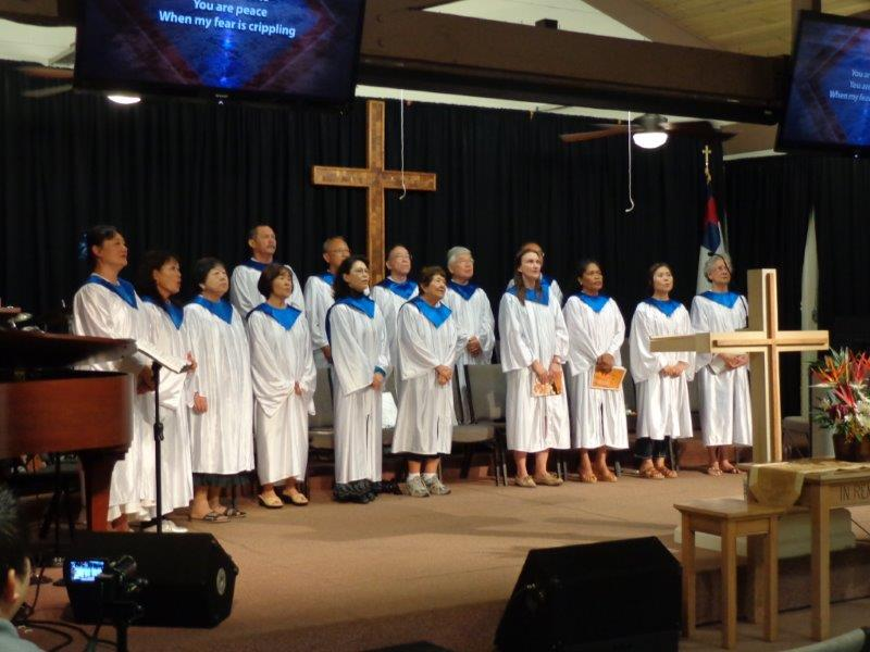 Adult Choir Singing at Mililani Baptist Church