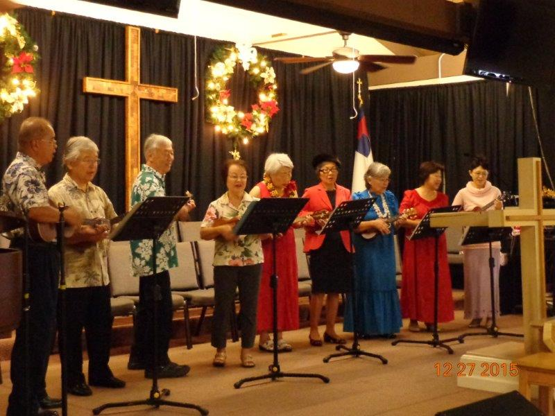 Adult Choir Singing for Christmas at Mililani Baptist Church