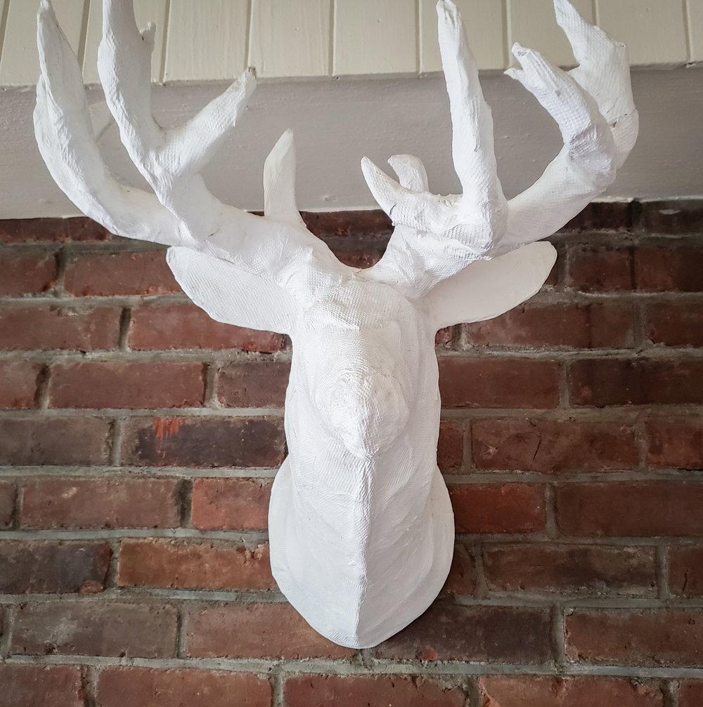 Paper Mache Deer Bust