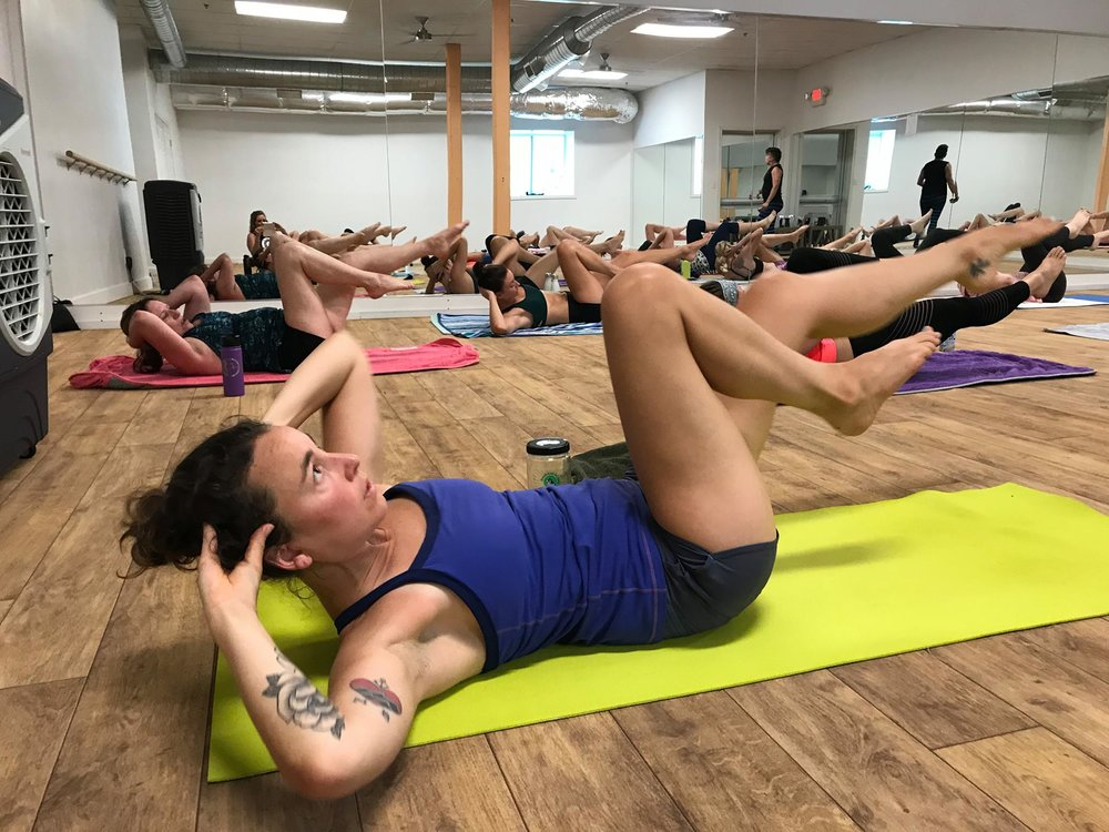 INFERNO HOT PILATES - Fast paced, high intensity and low impact, this class is energetic and tons of fun. Practiced to upbeat music, it will rock your core, help you lose weight, gain strength and get results fast.
