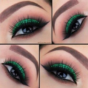 St. Patrick meets Glam. Perfect. And I love these lashes!!