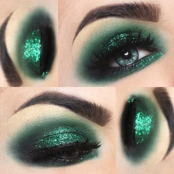 THIS GLITTER. THIS COLOR. St. Patrick meets smokey!!