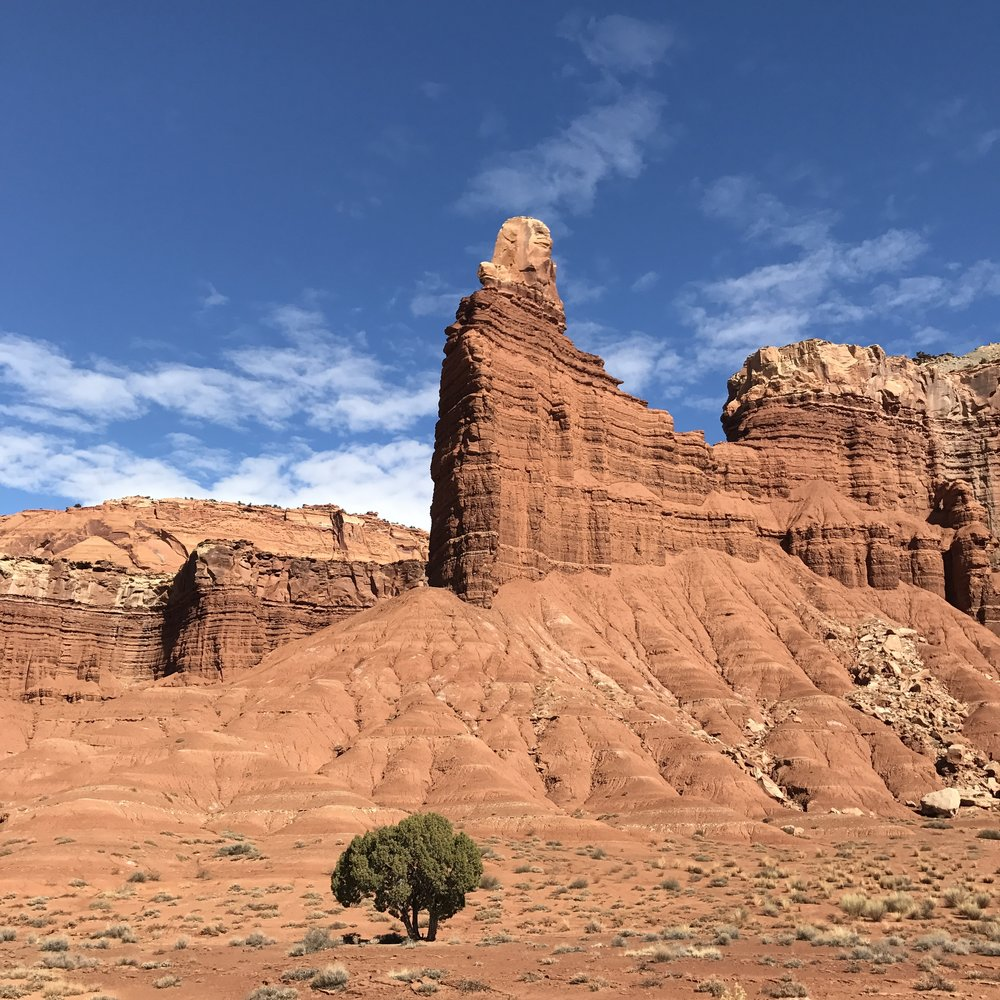 Capitol Reef National Park boasts lots of interesting rock formations and hiking trails.