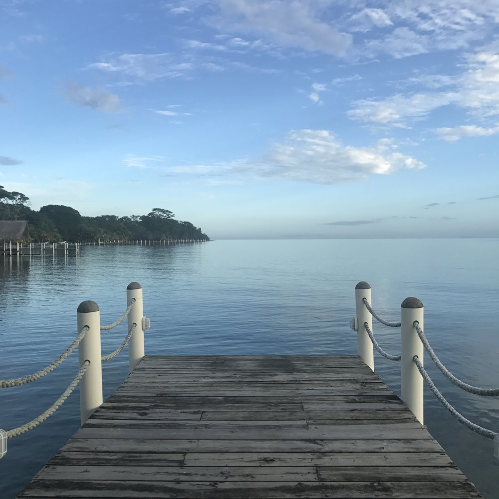 A view from the dock of El Faro. Hammocks are also provided for rest and relaxation.