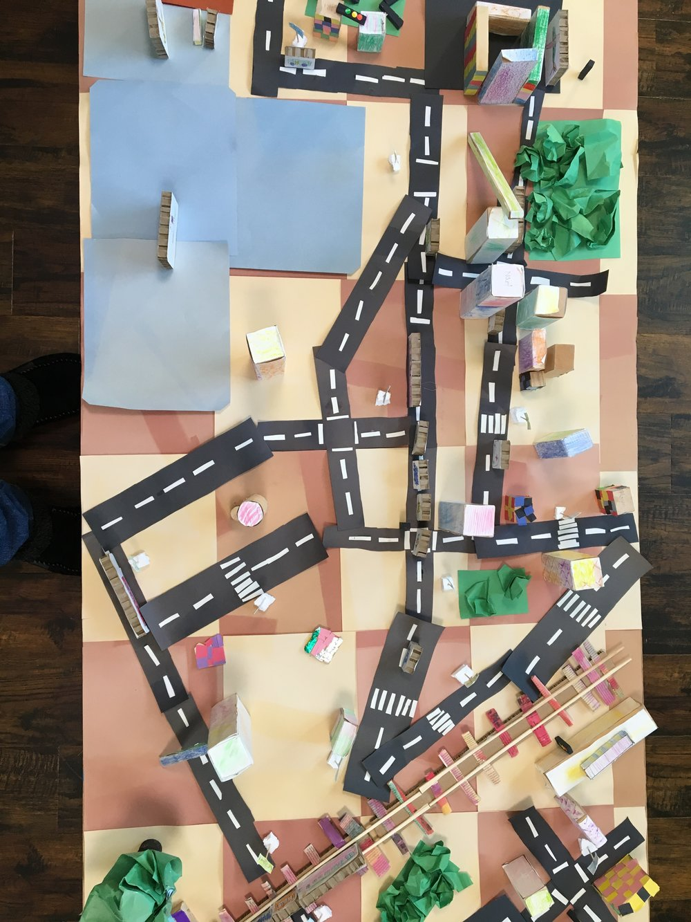 The kids added railway lines and trees....