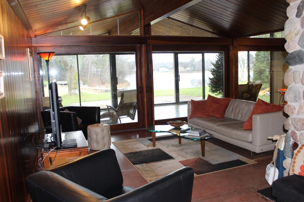 LIVING ROOM WITH  VIEW OF MONA LAKE