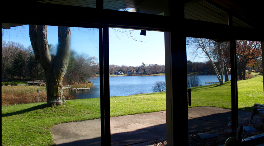 VIEW OF MONA LAKE FROM O'RYAN PORCH
