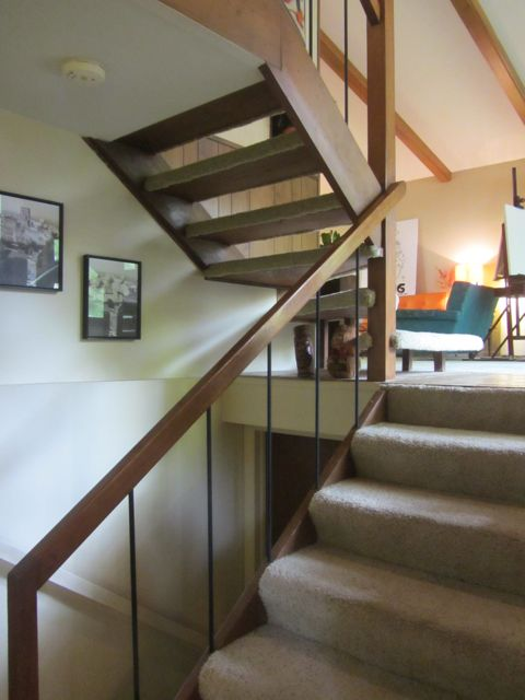 Burgess House on Fuller Court open stairway