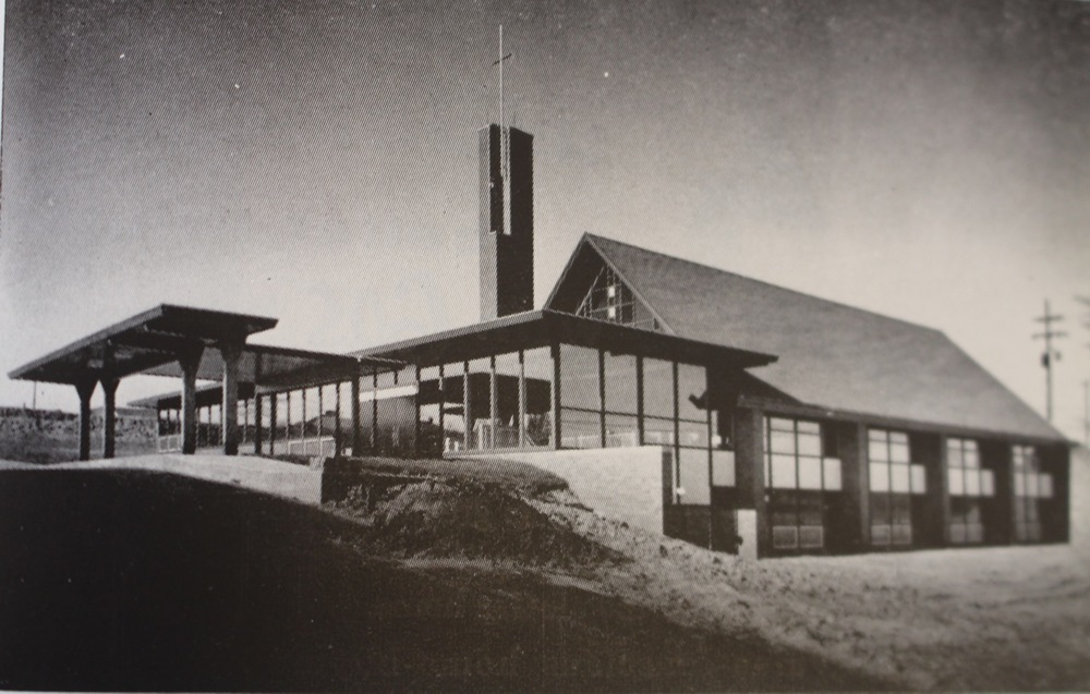 Early photo showing the building in 1957.