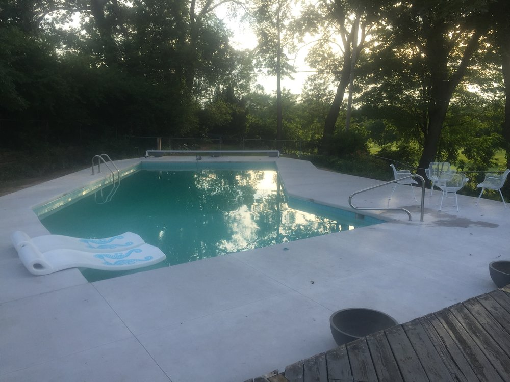 POOL IN SUMMER