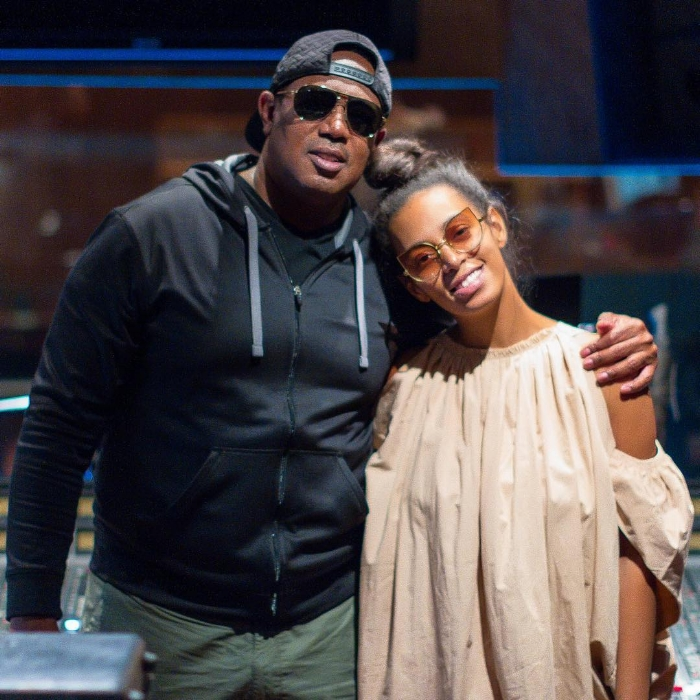 Master p & Solange in the studio working on new music v. Instagram.