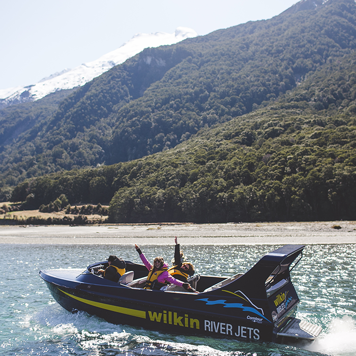 well travelled bride wedding jet boat wanaka mount aspiring national park hens party