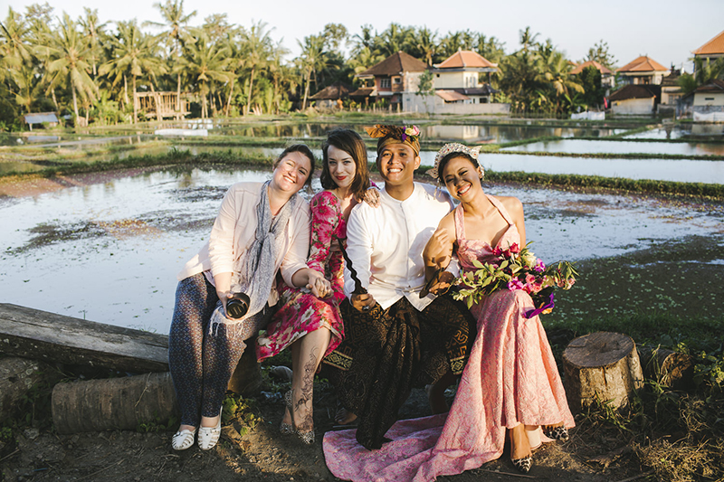 Contributor Yvette and Editor Kelsey at a Destination Wedding in Bali.