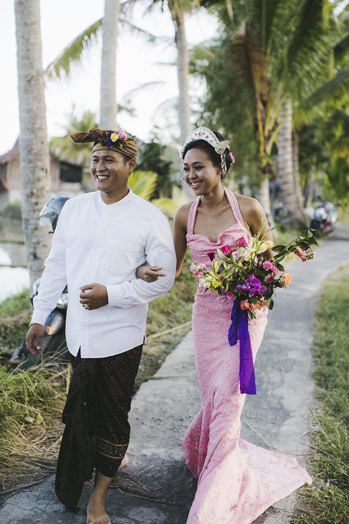 Bali Destination Wedding - Pink Kelsey Genna Dress