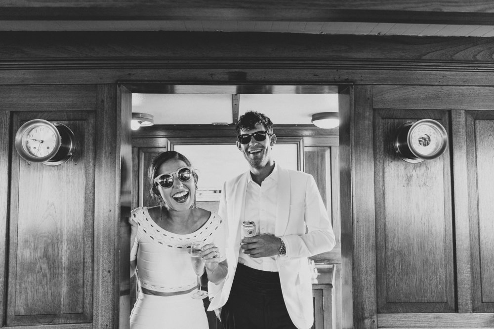Well Travelled Bride Jessica Soffe and Alex Forden New York Boat Wedding