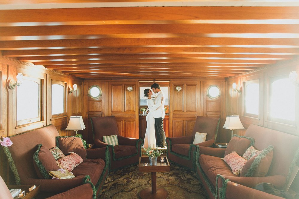 Well Travelled Bride Jessica Soffer and Alex Forden New York Boat Wedding