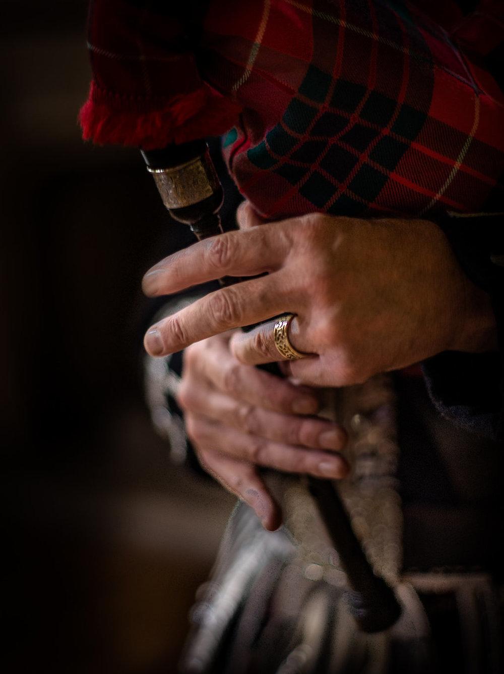 Well Travelled Bride Scottish Highlands Bagpipe